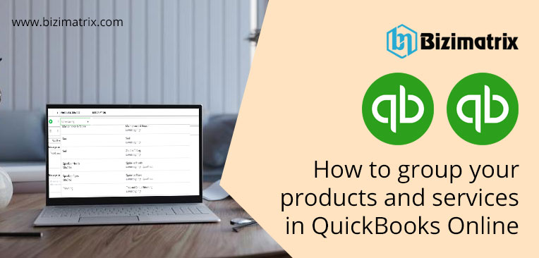 How to group your products and services in QuickBooks Online