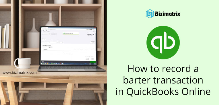How to record a barter transaction in QuickBooks Online